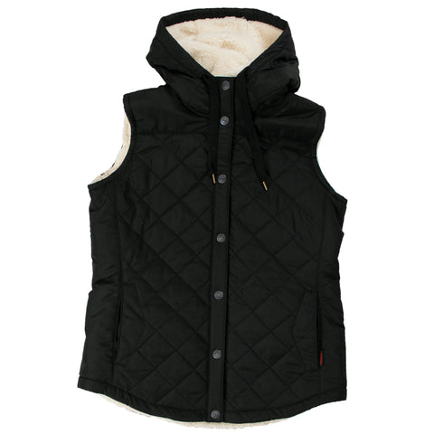 WV02 Women's Quilted Sherpa Lined Vest