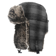 I15616 Plaid Aviator Hat