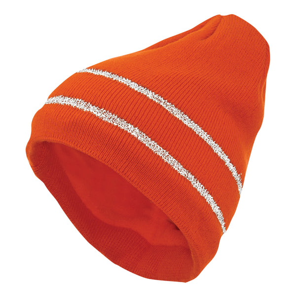 I45816 Acrylic Knit Cap with Reflective Stripe