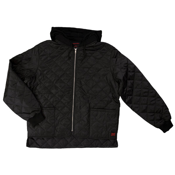 I9J5 Hooded Quilted Freezer Jacket