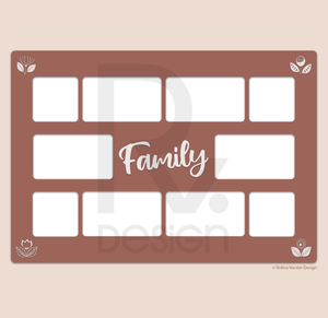 Digital Family Photo Collage (Print Ready)