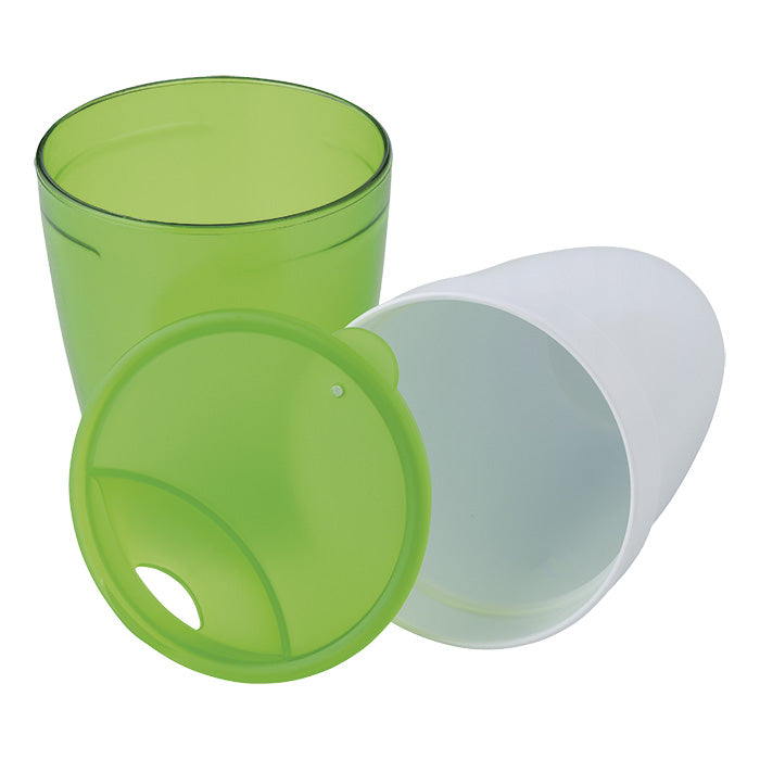 2 in 1 Plastic Mug