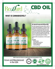Load image into Gallery viewer, flyer discussing CBG oil