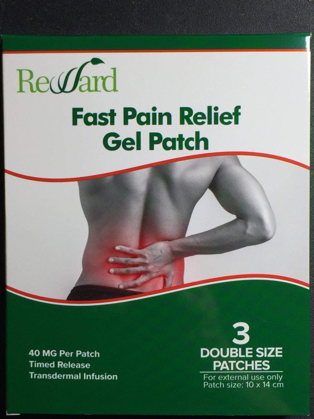 Fast Pain Relief Gel Patches (3 patches; 40mg CBD per patch)