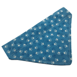 Blue Paw Print Bandana by Ally Crosbie-Cowley