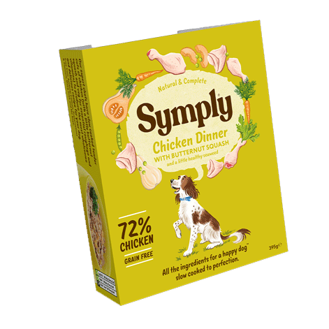Symply Wet Food Tray Chicken Dinner 395g