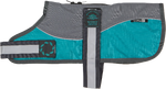 "Reflective Grey/Teal Padded Harness Coat w/o collar 8"" (20cm) - 26"" (66cm)"