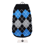 Black & Blue Argyle Jumper