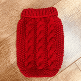Burnt Red Handmade Dog Jumper