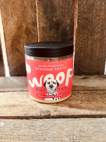 Woof Butter Strong Teeth Dog Peanut Butter