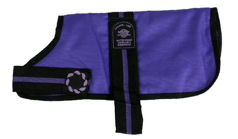 Purple Padded Dog Coat - Waterproof, Windproof & Washable!