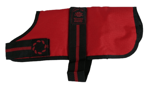Red Padded Dog Coat - Waterproof, Windproof & Washable!