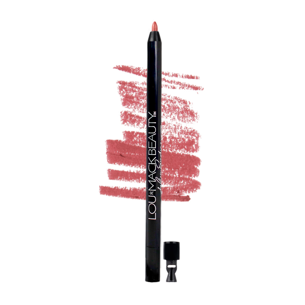 DEEP RED Retractable Gel Lip Liner w/sharpener