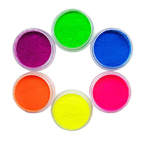 7 Mixed Colors Neon Powder Eyeshadow Pigment Matte Powder Cosmetics Set