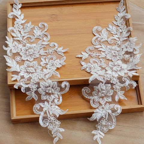 Ivory Alanson Lace Bridal Hair Flower Headpiece