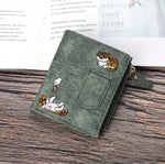 Load image into Gallery viewer, Cat Embroidered Purse - Slick Neat