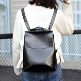 Ladies Leather Backpack - Slick Neat