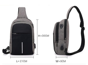 Waterproof Sling Bag W/ USB - Slick Neat