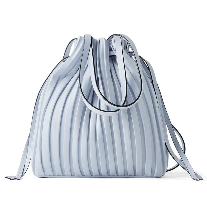 Pleated Mini Bucket Bag - Slick Neat