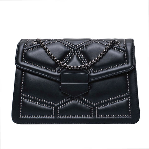 Rivet Leather Handbag - Slick Neat