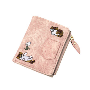 Cat Embroidered Purse - Slick Neat