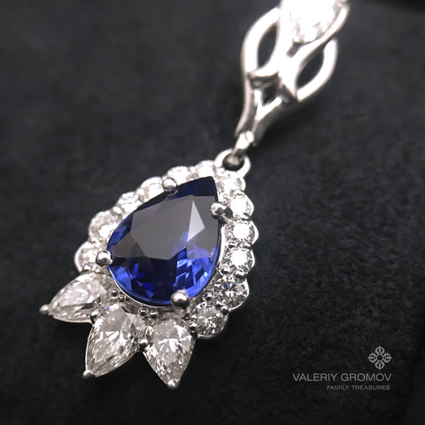 Sapphire Earrings & Diamonds