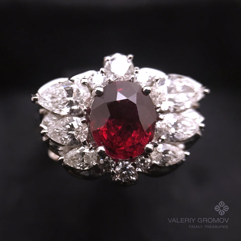 """Gravity Ring"" Natural Ruby"
