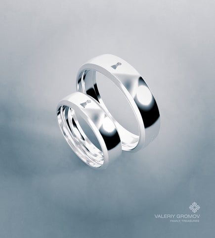"""LOCK"" Wedding Rings"