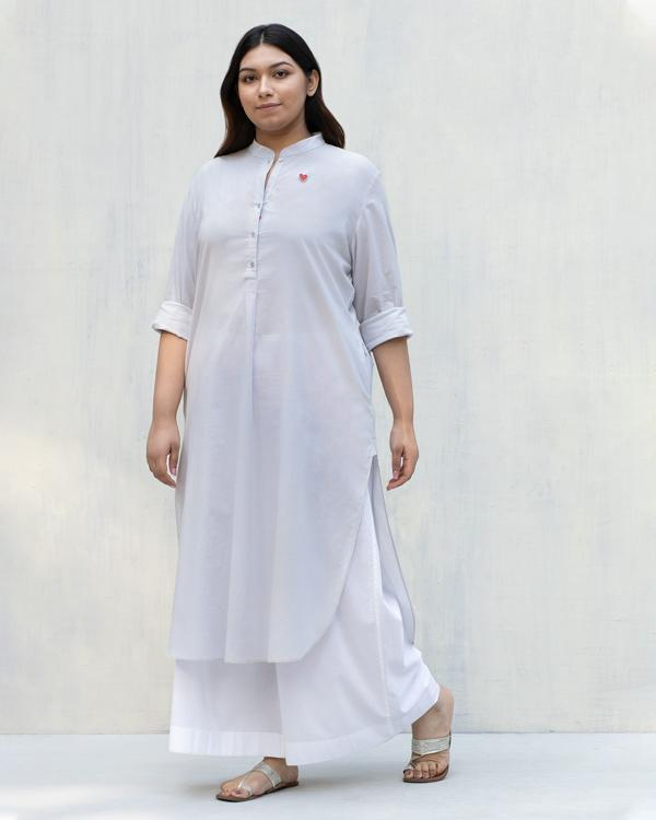 Long Length Kurta - Ash Grey