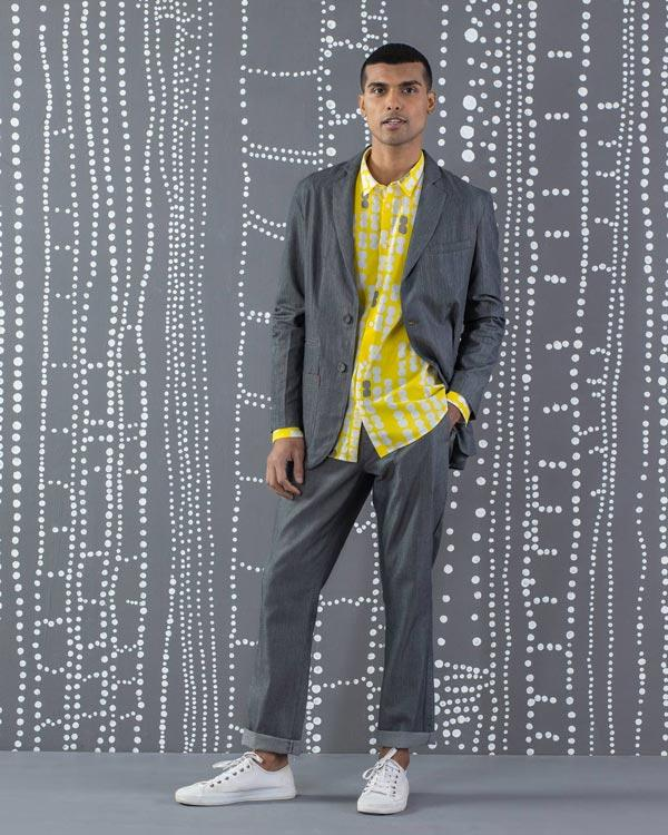 Comoros Blazer - Grey & Yellow