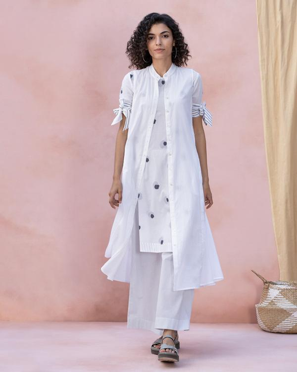Side Slit Kurta - White