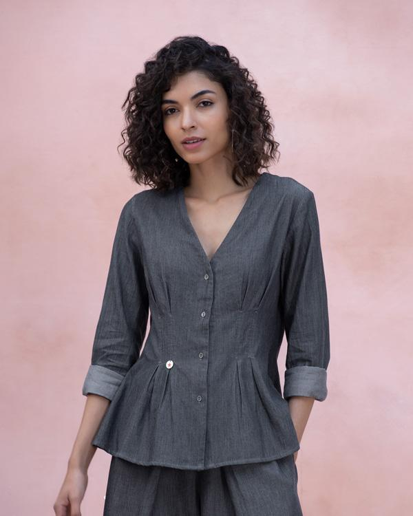 Ubuntu Denim Shirt - Grey