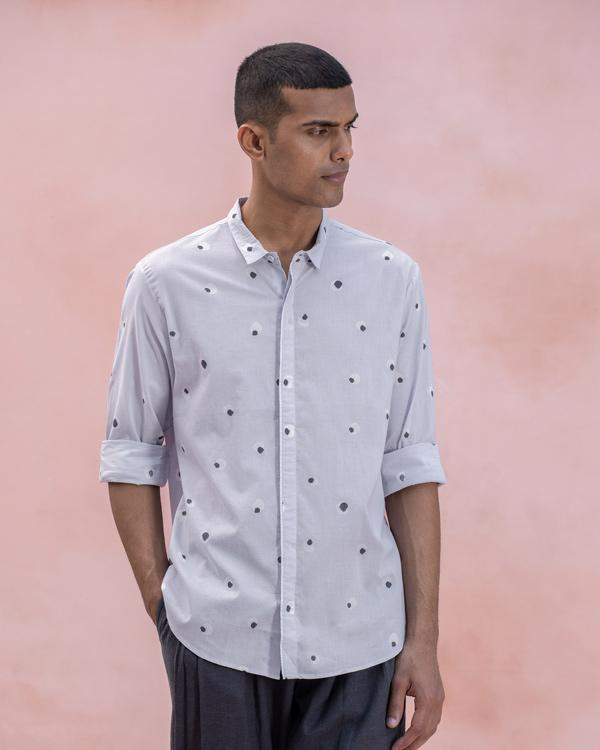 Basic Collar Shirt- Grey