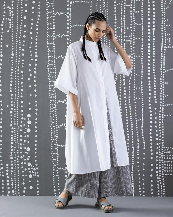 Long Shirt Kurta - White
