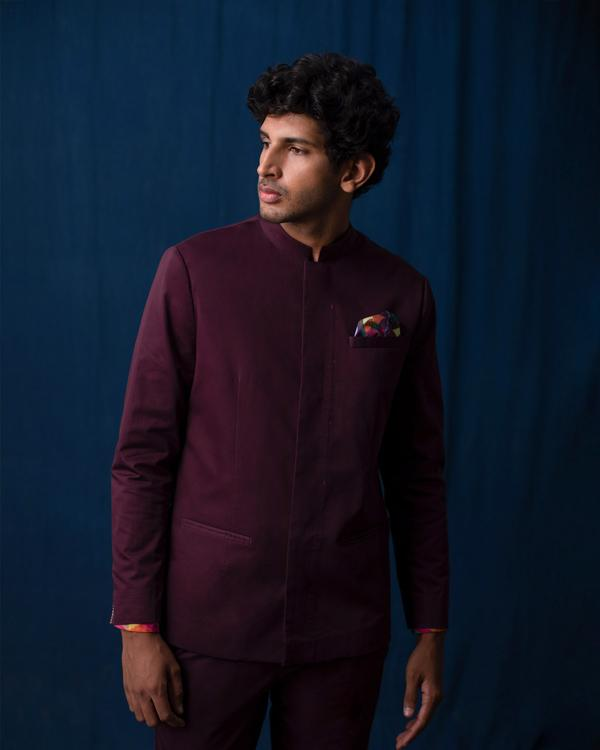Negombo Jacket - Wine