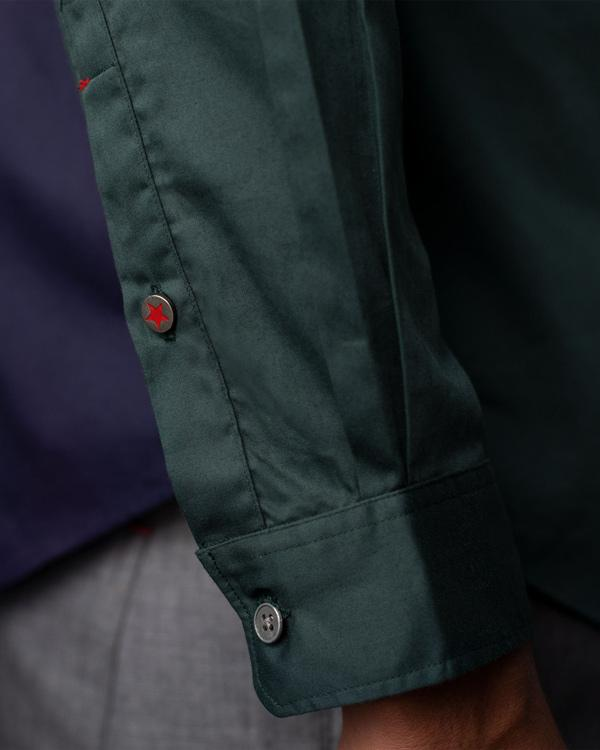 Pleated Placket Shirt - Green