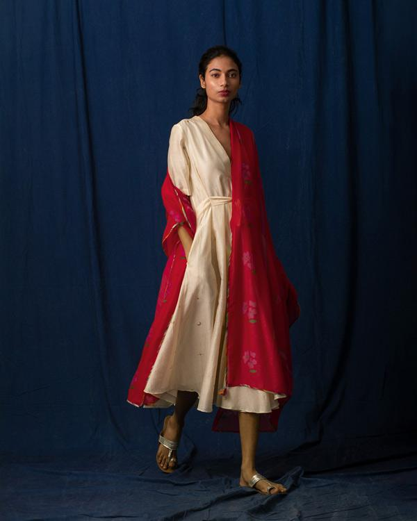 Forest Flame Dupatta - Red