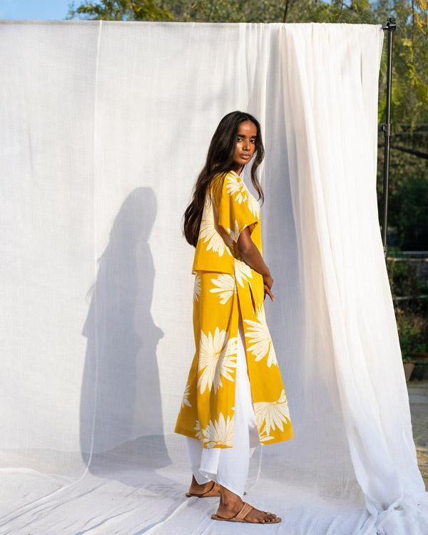 High Slit Kurta - Ochre