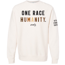 Load image into Gallery viewer, We Are One Humanity Pullover Bone Sweatshirt