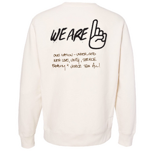 We Are One Humanity Pullover Bone Sweatshirt