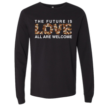 Load image into Gallery viewer, Long Sleeve Future Is Love Black Tee