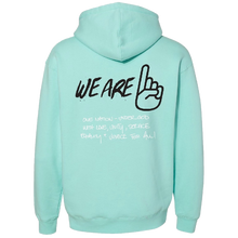 Load image into Gallery viewer, We Are One Humanity Pullover Mint Hoodie