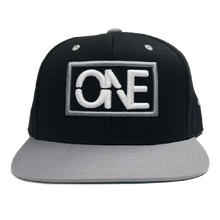 Load image into Gallery viewer, We Are One Black and Grey Flatbill Hat
