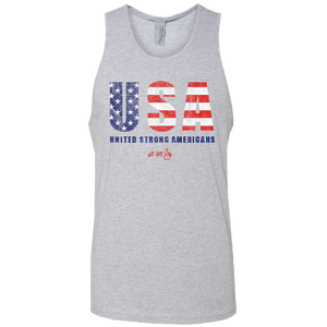We Are One Unisex Heather Grey USA Tank