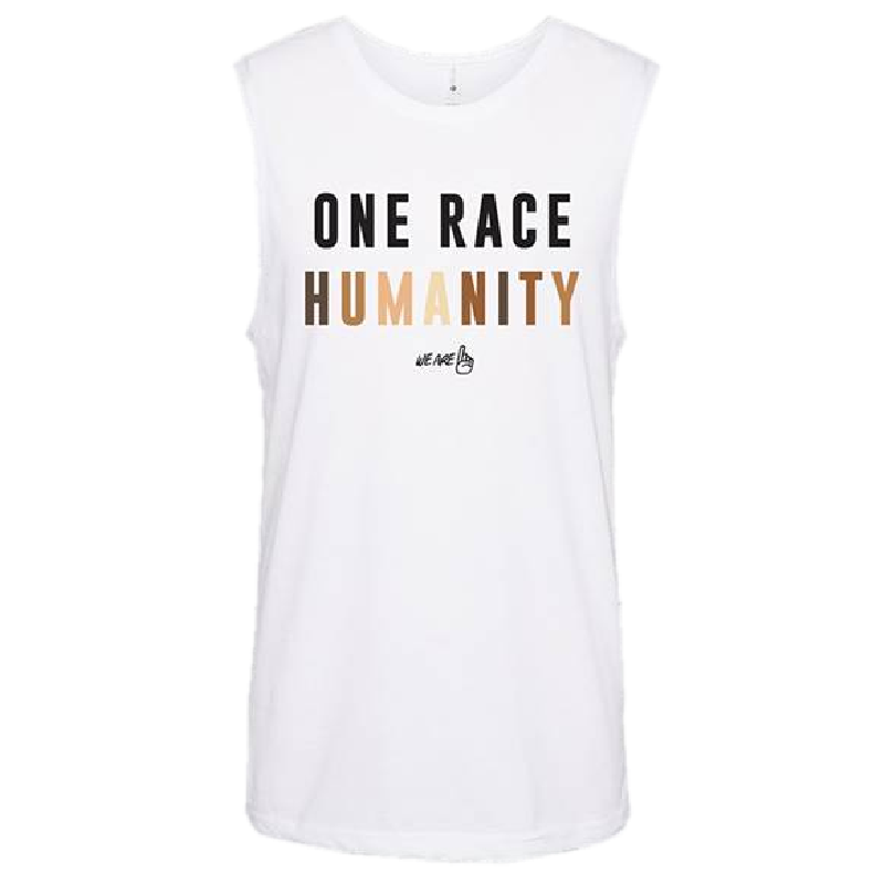 We Are One Humanity White Tank