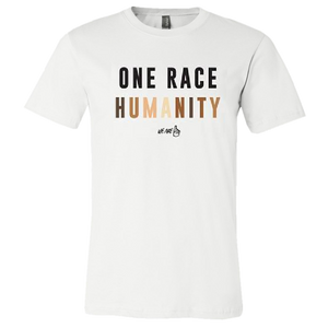 We Are One Humanity White Tee