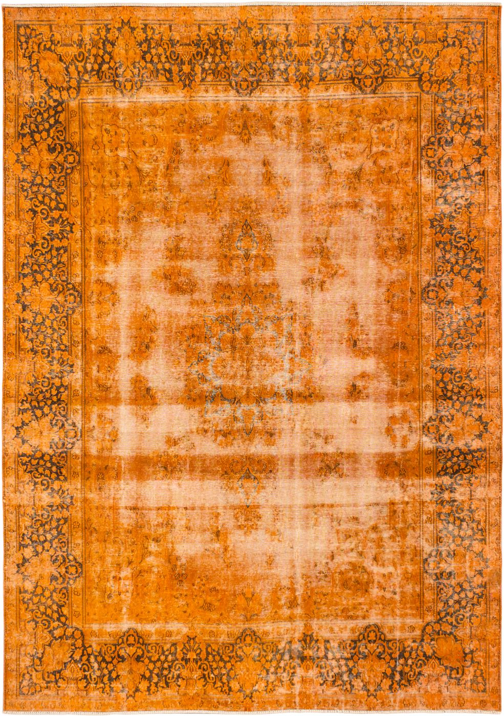 "Hand Knotted Turkish Overdyed Rug, 9'6"" x 13'2"""