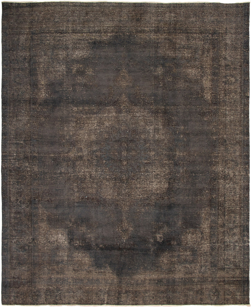 "Hand Knotted Turkish Overdyed Rug, 9'9"" x 12'1"""