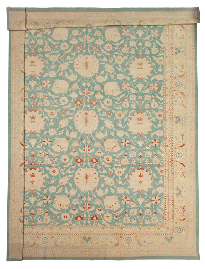"Hand Knotted Turkish Rug, 13'6"" x 18'0"""