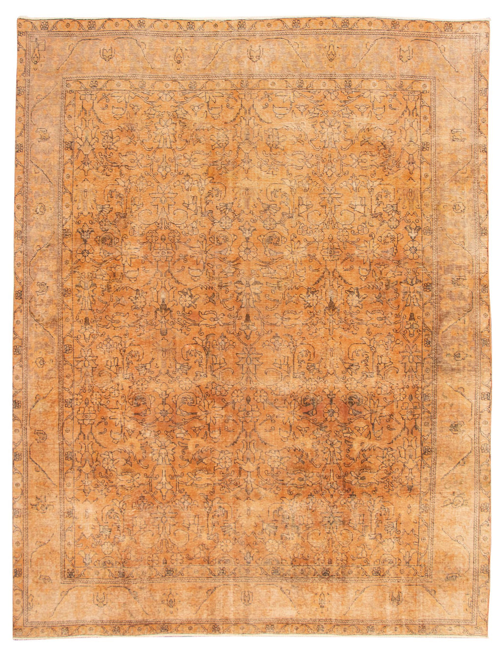 "Hand Knotted Turkish Overdyed Rug, 9'8"" x 12'6"""
